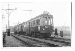 DEN HAAG (Pays Bas) Carte Photo Train Tramway Ligne Den Haag Leiden  Gros Plan 1950 - Den Haag ('s-Gravenhage)