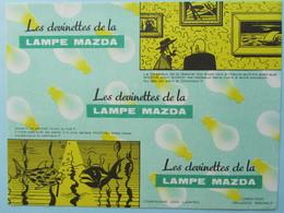 RARE Buvard MAZDA Les Devinettes De La Lampe Mazda - Electricity & Gas