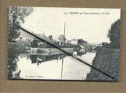 CPA  Rétrécit -  Froissy Par Bray Sur Somme  - Le Port  -(péniches , Péniche ) - France