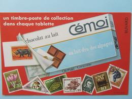 Buvard CEMOI Chocolat Au Lait Un Timbre-poste De Collection Dans Chaque Tablette - Cocoa & Chocolat