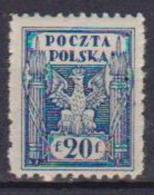 POLONIA  1919  POLONIA DEL NORD YVERT. 163 MLH VF - Usati