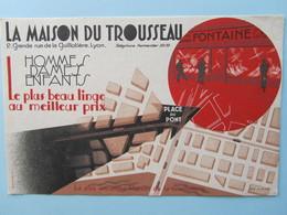 RARE Buvard La Maison Du Trousseau Lyon Rue Guillotière - Textile & Clothing