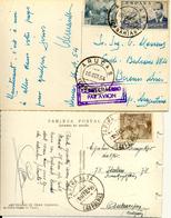 Canarias, Tafira Alta Y Arucas, Bonitos Fechadores Sobre Tarjeta Postal. Ver 2 Scan - 1931-Heute: 2. Rep. - ... Juan Carlos I
