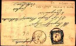 87434) Lettera Con 20c.v. Emanuele II° Da Ponte S. Pietro A Grovio Il 4/7/1861 - Sardaigne