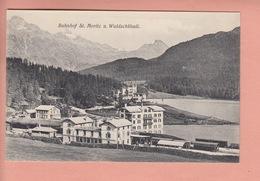 OUDE POSTKAART ZWITSERLAND - SCHWEIZ - SUISSE -  - BAHNHOF ST. MORITZ - STATION - GR Grisons