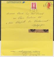 LETTREPOSTE Avec Valeur Affranchissement Annulée Et Remplacéé Par Un Timbre La Mention FRANCE UNIQUEMENT Cachée......... - Enteros Postales