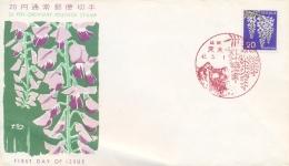 Japan 1966 FDC Flower Wisteria - Pflanzen Und Botanik
