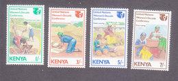 Kenya, Scott #341-344, Mint Hinged, UN Decade Of Women, Issued 1985 - Kenya (1963-...)