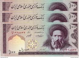 IRAN 100 RIALS ND (2005) P-140g NEUF SIGN. SHEIBANI & HOSSEINI 3 PCS [IR275g] - Iran