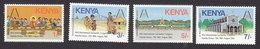 Kenya, Scott #345-348, Mint Hinged,  Eucharistic Congress, Issued 1985 - Kenya (1963-...)