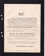NEUILLY-sur-SEINE Paul Louis DIEUDE-DEFLY 50 Ans 1888 Chef De Service à KARIKAL Indes Françaises COUTTET De BURTIN - Todesanzeige