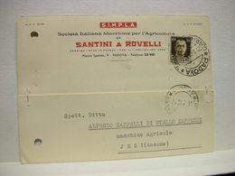 PADOVA   --  VINO  --UVA -  DISTILLERIA  -- ACCESSORI ---  SANTINI & ROVELLI -MACCHINE AGRARIE - Padova (Padua)