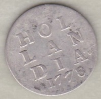 Netherlands HOLLANDIA . 2 STUIVERS 1778 .Argent . KM#  48 - [ 1] …-1795 : Période Ancienne