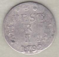 Netherlands  WEST FRIESLAND. 2 STUIVERS 1792 .Argent . KM#  106.2 - [ 1] …-1795 : Période Ancienne