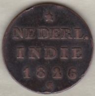 SUMATRA, Netherlands East Indies .1/2 Stuiver 1826 S , Copper, KM# 285 - Indonésie