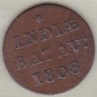 Batavia / Jakarta, Netherlands East Indies .1/16 Stuiver 1808 , Copper - Indonésie