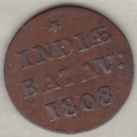 Batavia / Jakarta, Netherlands East Indies .1/16 Stuiver 1808 , Copper - Indonesia