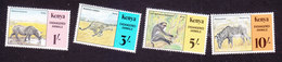 Kenya, Scott #355-358, Mint Hinged, Endangered Species, Issued 1985 - Kenya (1963-...)