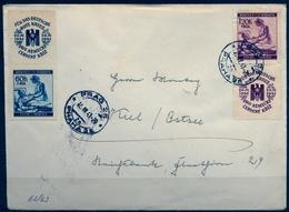 1941 , BOHEMIA Y MORAVIA , INTERESANTE SOBRE CIRCULADO , PRAGA - KIEL , CRUZ ROJA ALEMANA - Bohemia Y Moravia