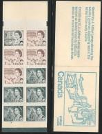 CANADA 1971 UNITRADE BK71 (SCOTT 454,460,544) VALUE US $3.00 - Ganze Markenheftchen