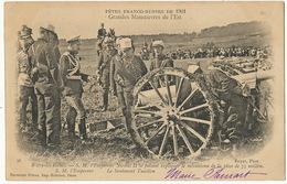 Witry Les Reims Fetes Franco Russes Tsar Nicolas II Et Lieutenant Tuaillon Canon De 75 1901 - Russia