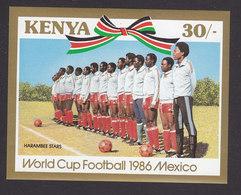 Kenya, Scott #374, Mint Never Hinged, Soccer, Issued 1986 - Kenya (1963-...)