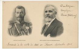 Visite Tsar Nicolas II Et President Loubet Dunkerque Reims Betheny Compiegne - Russia