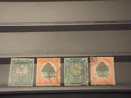 SUD AFRICA - 1937/8 ANTILOPE ED ALBERO 4 VALORI - TIMBRATI/USED - Sud Africa (...-1961)
