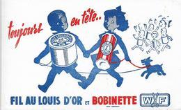 Buvard Fil Au Louis D'Or Et Bobinette WF Enfant Chien - Textile & Clothing