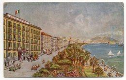 Italie--NAPLES ---illustrateur ???? --Hôtel  RIVIERA --carte Publicitaire De L'Hôtel --blason Au Verso - Napoli