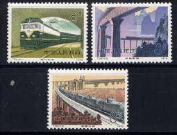 CHINE - 2278/2280** - CHEMINS DE FER EN CONSTRUCTION - 1949 - ... Volksrepublik