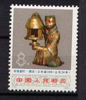 CHINE - 1900** - LAMPE EN BRONZE DORE - 1949 - ... People's Republic