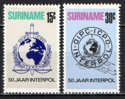 SURINAME - 1973 - INTERPOL: 50th Anniv. Of Intl. Criminal Police Org - MNH - Suriname