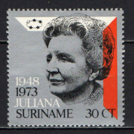SURINAME - 1973 - 25th Anniversary Of Reign Of Queen Juliana - MNH - Suriname