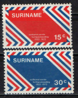 SURINAME - 1972 - CINQUANTENARIO DELLA POSTA AEREA IN SURINAME - MNH - Suriname
