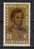 SURINAME - 1965 - ABRAHAM LINCOLN - MNH - Suriname