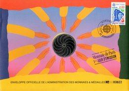 FRANCE 1991 : EUROPA / JOAO MACHADO / PORTUGAL Enveloppe Philatélique Numismatique 1er Jour N°tée Parf état EPN - Collezioni