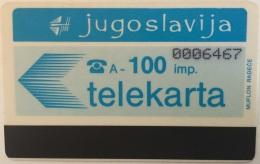 YOUGOSLAV : 16 100 Imp PTT  (7 Digits) USED - Yougoslavie
