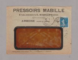 LSC 1920 - Entête PRESSOIRS MABILLE à AMBOISE (Indre & Loire) + Au Dos Vignette Foire De LYON - 1877-1920: Semi Modern Period