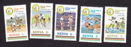 Kenya, Scott #414-418, Mint Hinged, Sports, Issued 1987 - Kenya (1963-...)