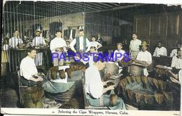 92474 CUBA HABANA COSTUMES SELECTING CIGAR WRAPPERS 1910 CIRCULATED TO US POSTAL POSTCARD - Postcards