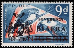 Biafra 1968 9d Gray Parrots Unmounted Mint. - Nigeria (1961-...)