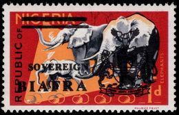 Biafra 1968 1d Elephants Unmounted Mint. - Nigeria (1961-...)