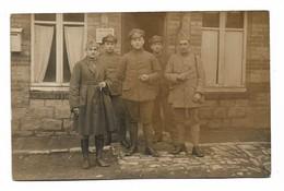 Groupe De 5 Soldats Dont Un Du 91 Régiment D'infanterie (2 Scans) - Guerre 1914-18