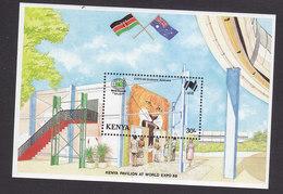 Kenya, Scott #452, Mint Never Hinged, World Expo, Issued 1988 - Kenya (1963-...)