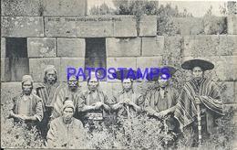 92480 PERU CUZCO COSTUMES NATIVE TIPOS INDIGENAS POSTAL POSTCARD - Peru