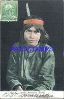 92485 PERU COSTUMES NATIVE INDIO ANUESHA CIRCULATED TO ARGENTINA POSTAL POSTCARD - Peru