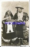 92487 PERU COSTUMES NATIVE INDIOS DE TINTA CON PONCHOS YEAR 1937 CUT CIRCULATED TO FRANCE REAL PHOTO POSTAL POSTCARD - Peru