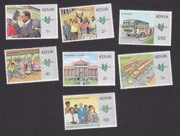 Kenya, Scott #469-475, Mint Hinged, Presidency Of Daniel Arap Moi, Issued 1988 - Kenya (1963-...)
