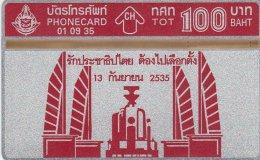 THAILG : 350901 100 Democracy Monument I MINT - Thaïlande
